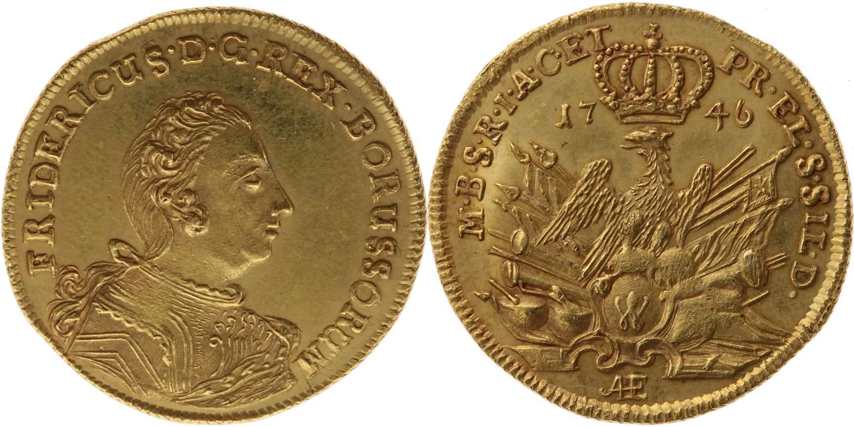 Friedrich d'or issued in 1746