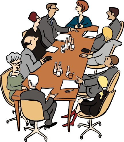 People sitting at a conference table