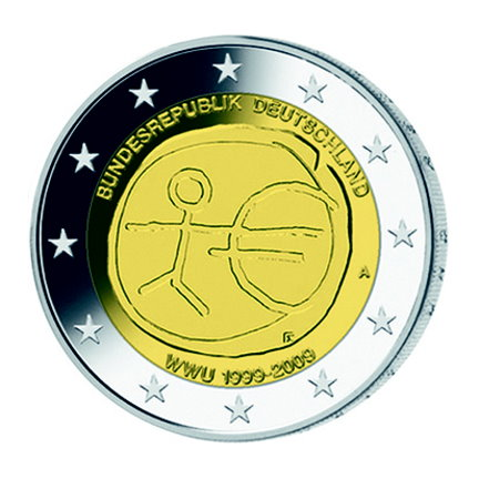 German commemorative €2 coins - 10th anniversary of Economic and Monetary Union