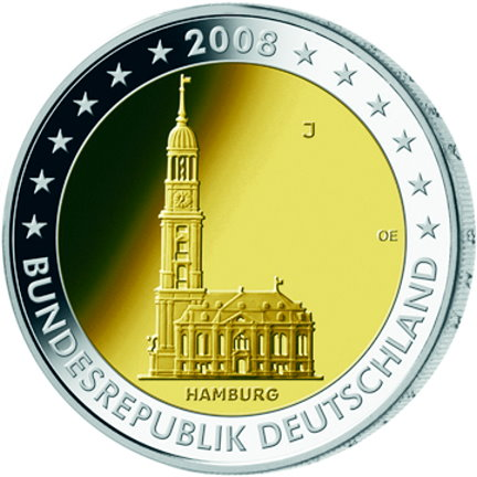 "German 2 Euro commemorative coin ""Hamburg"""