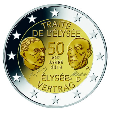 German commemorative €2 coins - 50th anniversary of the Treaty of Elysee