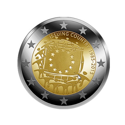 German €2 commemorative coin - 2015 - 30 years of the EU flag
