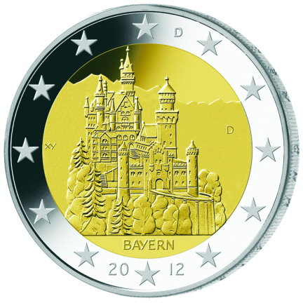 German commemorative €2 coins - 2012 - Federal state of Bavaria