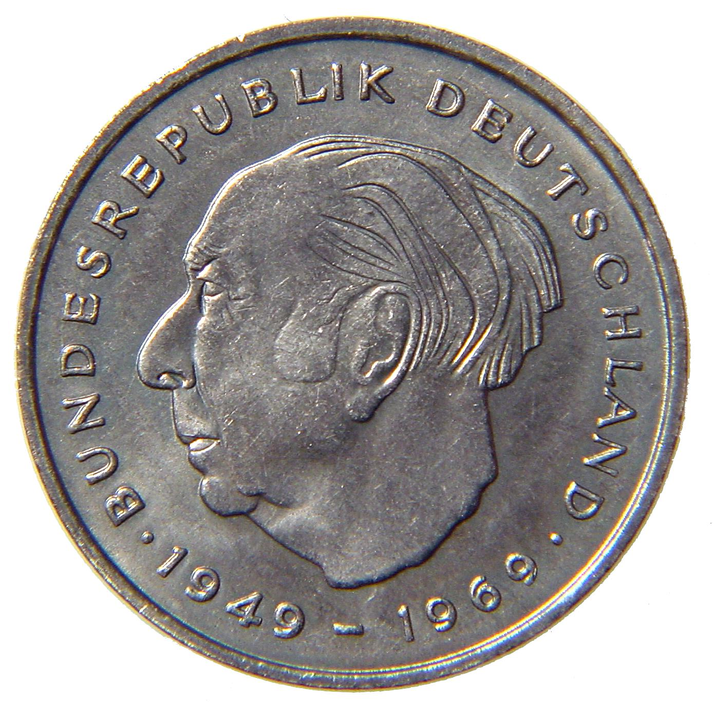 2-DM coin Heuss - obverse