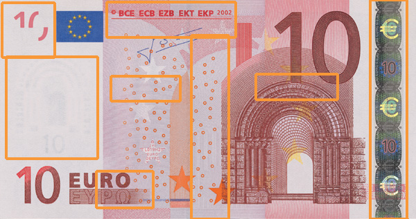 10 euro banknote, first series - front side