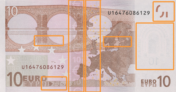 10 euro banknote, first series - reverse side
