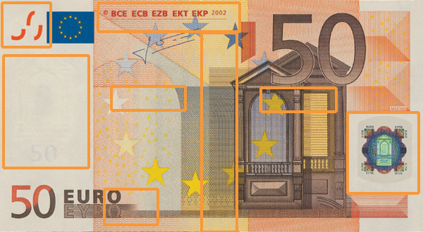 50 euro banknote, first series - front side