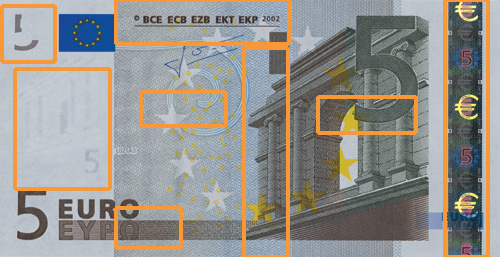 5 euro banknote, first series - front side
