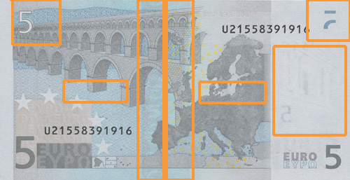 5 euro banknote, first series - reverse side
