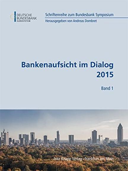 Cover des Buches Bankenaufsicht im Dialog 2015