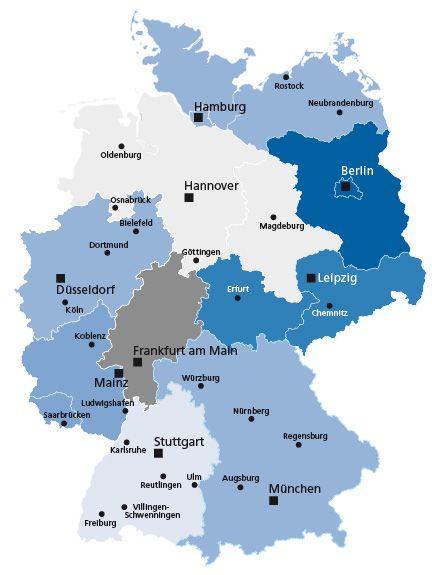 Hauptverwaltungen Und Filialen Deutsche Bundesbank