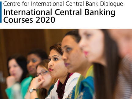 Cover der Publikation International Central Banking Courses 2020