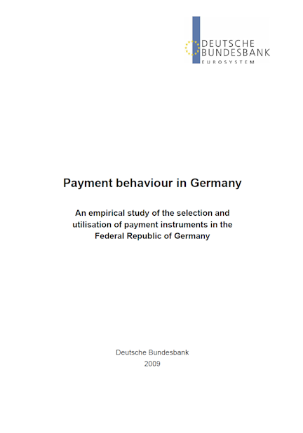 Cover: Payment behaviour in Germany in 2009