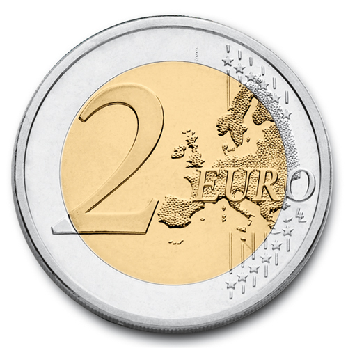 European side of the 2 euro coin from 2007