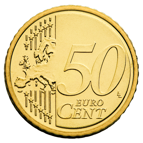 European side of the 50 cent coin from 2007