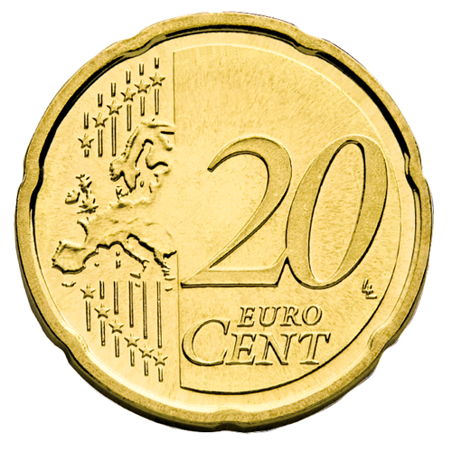 European side of the 20 cent coin from 2007