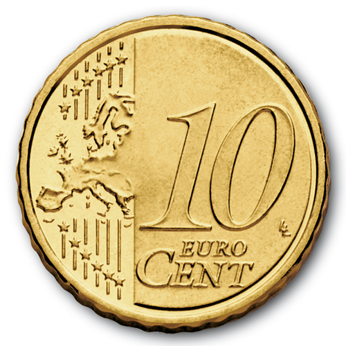 European side of the 10 cent coin from 2007