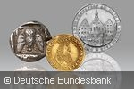 Several coins from the numismatic collection