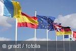 Verschiedene Europaflaggen