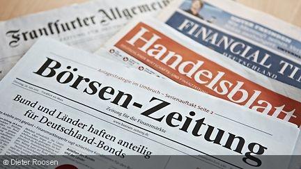 Verschiedene Zeitungen wie Handelsblatt oder Börsen-Zeitungen