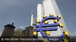 The euro sign in Frankfurt am Main