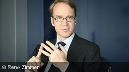 Jens Weidmann giving an interview